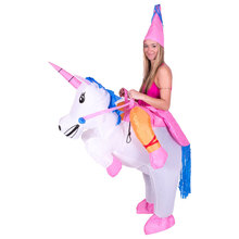Inflatable Unicorn Costumes Inflatable Princess Outfit Suit Party Fancy Dress Halloween Purim Costume for Kids Women Men Adult