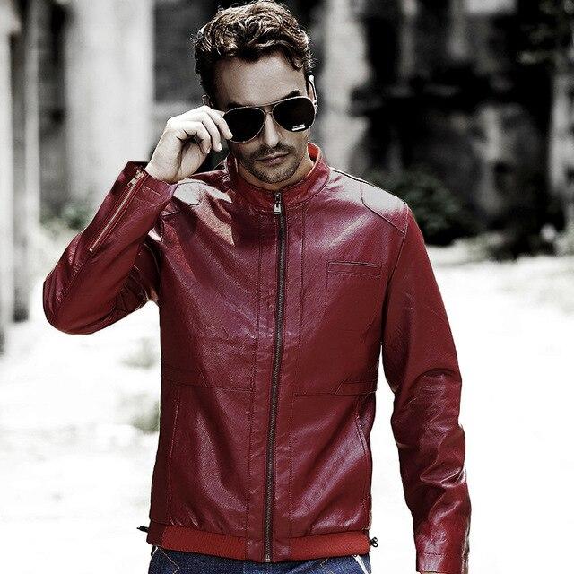 Мужская кожаная мотоцикл натуральной кожи куртка Из Натуральной кожи куртки обивка хлопок Осень зима теплая пальто мужчины новый список