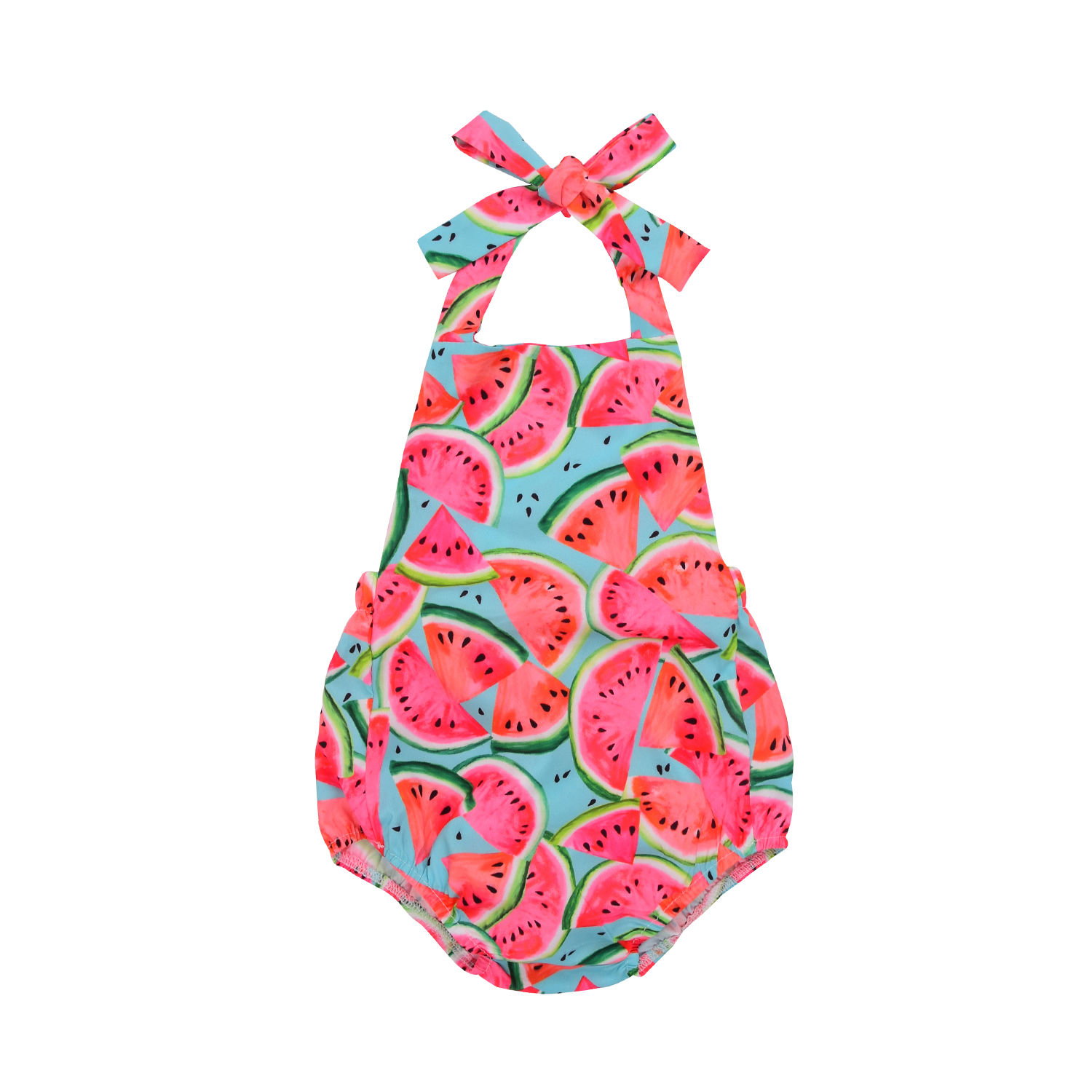 Cute Newborn Toddler Baby Kids Girls Watermelon   Romper   Jumpsuit Cotton Sunsuit One-Pieces Summer Outfits Clothes