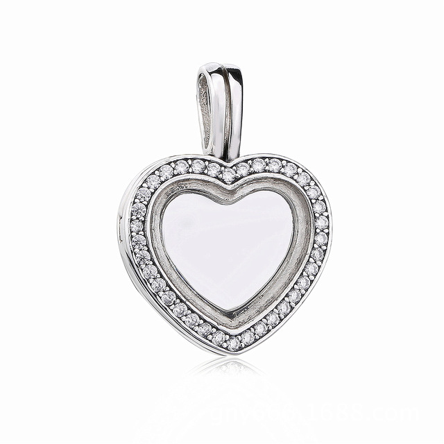 1693219d9 ... coupon code for 2018 real 925 sterling silver original sparkling pandora  floating heart locket necklace pendant ...