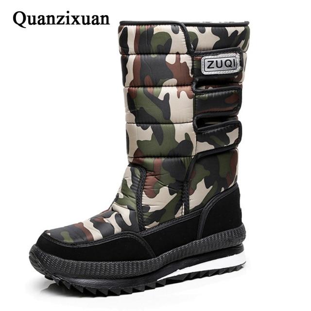 New men snow boots waterproof men's ankle boots Winter outdoor Fur warm Mans Boot fashion work shoes Men Shoes Unisex Size 36-46 1