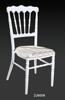 Wholesale Quality Strong White Aluminum Napoleon Chair For Wedding Events Party