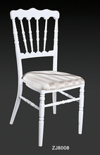 wholesale quality strong white aluminum napoleon chair for wedding events party(China)