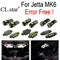 11 unid x 100% libre de errores para volkswagen vw jetta 6 mk6 led lámpara luz interior kit package sedan (2011 +)