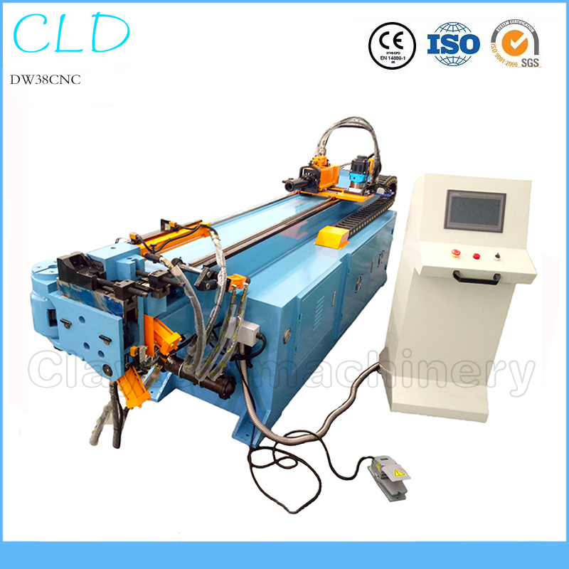 DW38CNC 1.5inch cnc pipe tube bending machine, full automatic aluminum stainless steel hydraulic bender