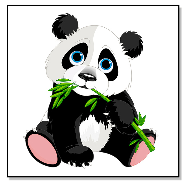Wall Posters and Print Painting Canvas Modern Pop Art Mural Chinese Animal Panda Wallpaper Oil Painting