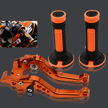 for ktm motorcycle adjustable folding brake clutch levers protaper  handlebar grips for ktm 200 350 400
