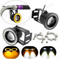 Motorcycle Bike Car LED Angel Eye Headlight HeadLamp Turn Signal Fog Spot Lights Lamp Universal