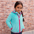 New Winter Girls Clothes Kids Fashion Fleece Warm Jacket Baby Girls Aqua Hooded Outerwear Autumn Fashion Kids Coat&Kacket 81431