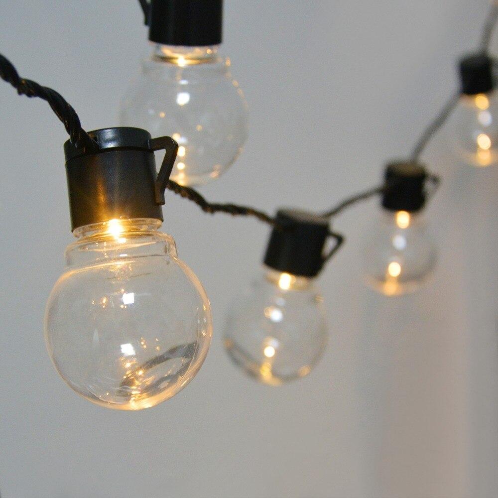 Гирлянда G50 с круглыми лампочками, 2,5 м, 5 м, 110 В, 220 В