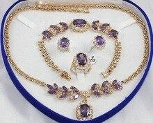Fine Women's Set stone Necklace Earring Ring Bracelet style gems crystal wholesale choker jewelry sets for women anime