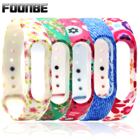 1pcs Wristband for Xiaomi 2 Rose Flower for Miband 2 Camouflage Smart Wristband for Mi band 2 Bracelet Band