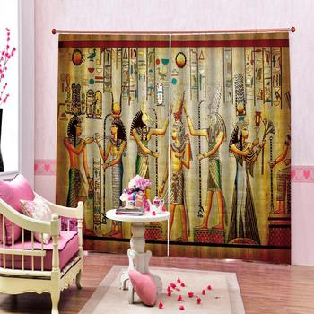 Europe 3D Curtain Luxury Blackout Window Curtain Living Room people curtains yellow curtain