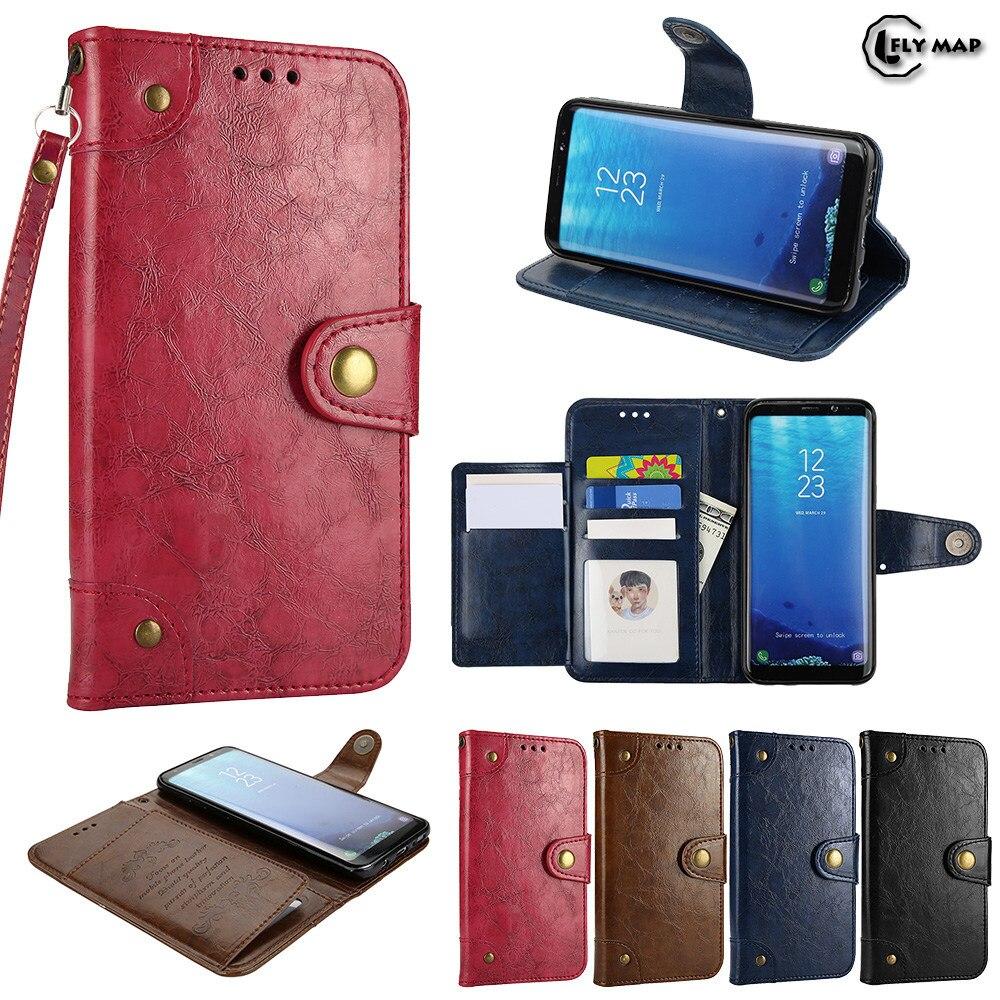 Coque Pour Samsung Galaxy S8 S 8 Rêve SM-G950F G950F G950N cas Portefeuille Flip PU Couverture En Cuir Pour Galaxy 8 S Rétro Flip cas