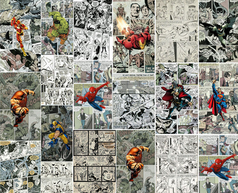 3d Wallpaper For Bedroom Walls Marvel Comics 3d Wallpaper