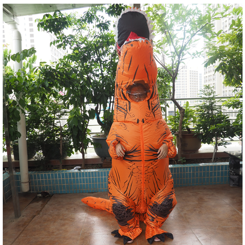 Adult T REX Costume Inflatable Dinosaur Party Costume Suit For Anime disfraces adultos costume Halloween Costumes for Women Men (13)