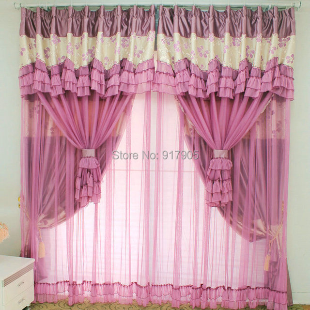 Elegant Purple Bedroom Curtains Romantic French Lace Curtains Modern  Designers Rustic Window Blinds Wedding Curtain Backdrops