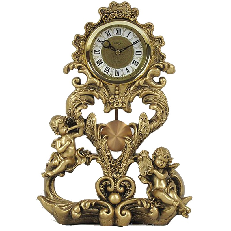 Style européen artisanat horloge chambre luxueux ange bureau horloge bureau étude chambre décoration
