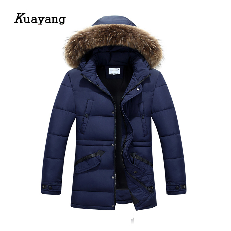2017 New Arrival Thick Winter Jacket Men Warm Long Parkas Hat detachable jaqueta masculina casacos de inverno FLD0157