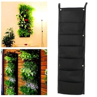 7 Pockets Vertical Vegetable Garden Indoor Growing Pot Hanging Wall Outdoor Indoor Plants Strawberry Container Grow Bag 4