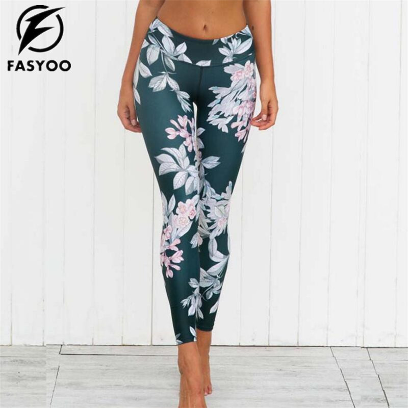 FASYOO Women Yoga Pants Sports Sexy Tall waist Stretched Gym Clothes Spandex Running Tights Sports Leggings Fitness sexy sports bra and leggings