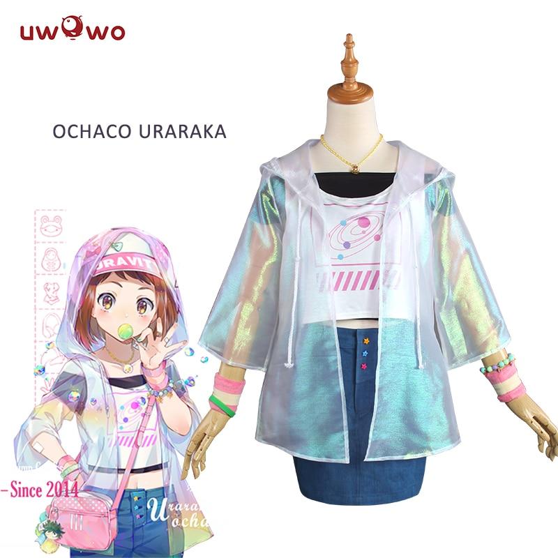 все цены на UWOWO Ochaco Uraraka Cosplay Fashion Version casual Wear My Hero Academia Cosplay Ochaco Uraraka Costume boku no hero academia