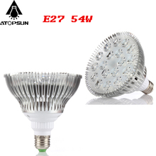 1pcs Full Spectrum Led Grow Light 54W E27 led plants lamps for plants Flowering indoor Lighting led aquarium hydroponic systems