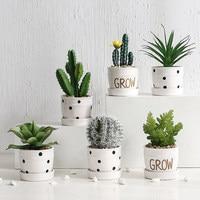 Nordic Simulation Plant Cactus Ornaments Creative Succulent Potted Ins Decorative Green Plant Fake Flower Desktop Small Bonsai