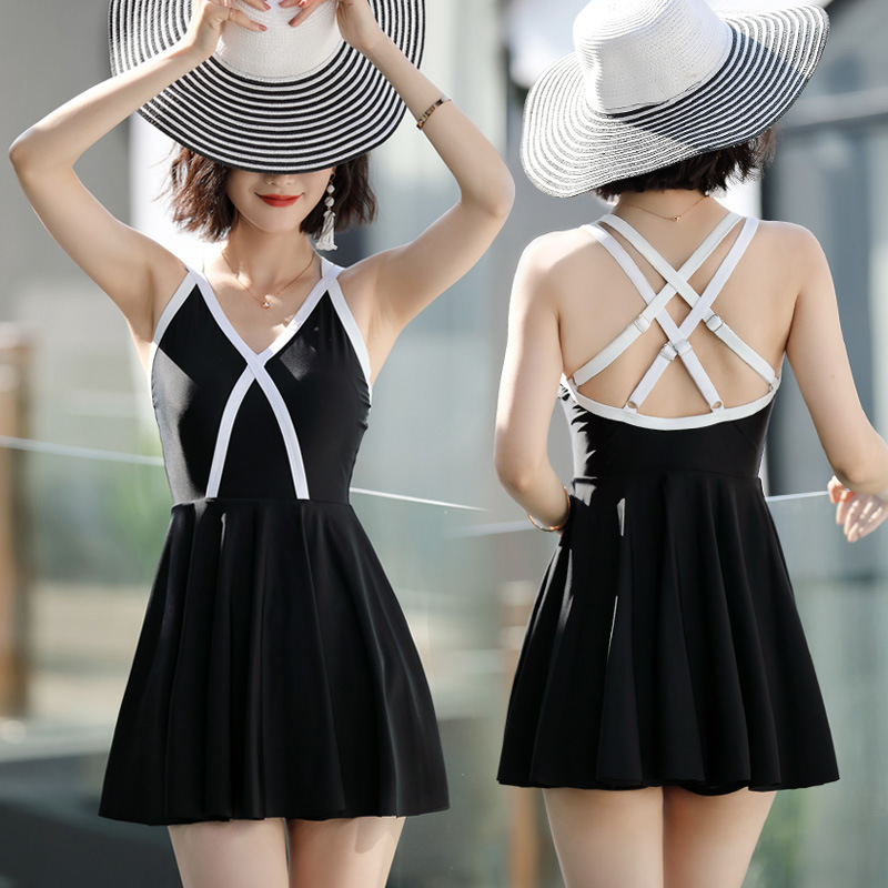 Swimwear Large Size One Piece Swimsuit Bathing Suit Women Woman Swim Dress 2018 Breasts Pants Sexy Girl Pure Cotton Solid Sierra 2017 new large size swimwear women plus size one piece swimsuit push up bathing suit 5xl women sexy beach dress swim wear