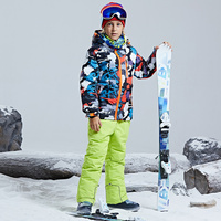 Warm Waterproof Child Ski Suit Heavyweight Boys Outfits Winter Kids Skiing Sets Children Outerwear For 4 16 Years Old