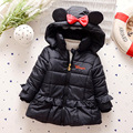 Cartoon Winter Warm Jacket For Girls Children Jackets Long Outerwear Jacket & Coat For Girls Kids Clothing Vetement Fille B014