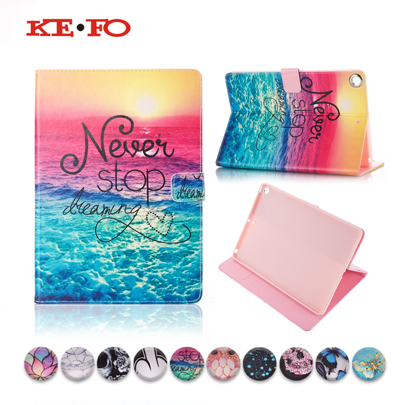 Funda For New iPad 9.7 2018 A1893 Cases PU Leather Smart Cover for Apple