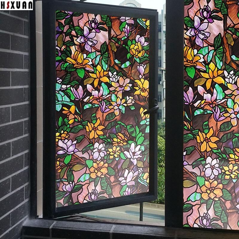 Decorative Tint Window Privacy Film 70x100cm Glass Door Home Decor