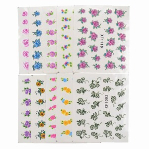 Image 5 - 60 Sheets Flowers Designs Water Transfer Nail Sticker, Watermark Nail Stickers Temporary Tattoos Manicure Beauty Tools
