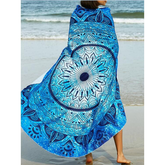 Boho mandala manta redonda roundie playa tiro tapiz indio toalla playa mandalas hippy ronda toalla de playa/playa yoga esteras