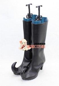 Обувь для костюмированной вечеринки в стиле клоуна «Soul Eater Медуза»; Цвет Черный; X002