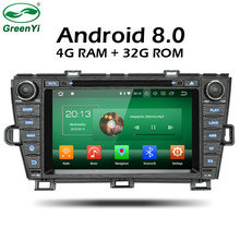 GreenYi 4G RAM Android 8.0 Car DVD For Toyota Prius 2009 2010 2011 2012 2013 Octa Core 32G Radio GPS Multimedia Player Head Unit(China)