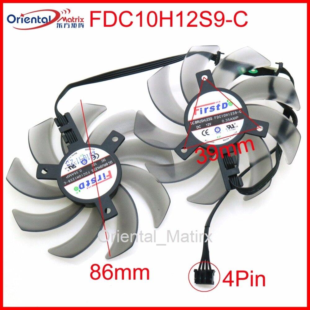 Free Shipping FDC10H12S9-C DC12V 0.35A 4Pin 86mm VGA Fan For GEFORCE GTX1080 GTX1070 GTX1060 Graphics Card Cooling Fan