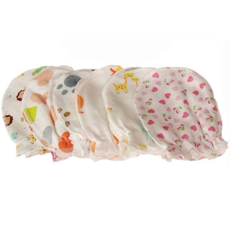 5Pair Newborn Boy Girl Infant Soft Cotton Handguard Anti Scratch Mittens Gloves