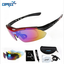 Copozz Polarized  Hiking Eyewear Outdoor Fishing Moutain Road  MTB Bicycle Sun Glasses Sports Sunglasses Myopia 5 Lens