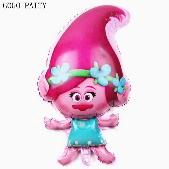 GOGO PAITY Free Shipping New Troll Aluminum Balloon Festival Party Decorative Children Toys Wholesale