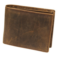 June Tree Vintage Hasp Open Genuine Leather Wallet High Large Capacity Unique Decor Crazy Horse Genuine
