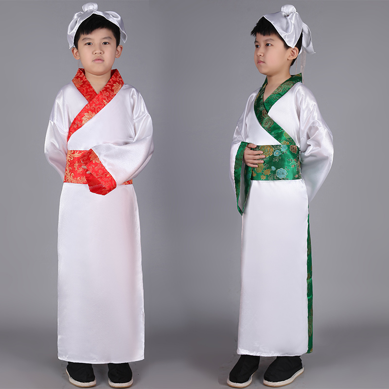 Hanfu Chinese Kids Costume Boys Wushu Clothing Folk Dress Traditional Ancient Chinese Suit Child National Folk Dance Wear DN2576
