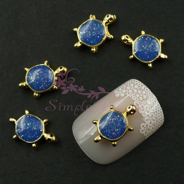 20pcslot cute sea turtle glitter navy blue gold tone 3d alloy 20pcslot cute sea turtle glitter navy blue gold tone 3d alloy charms crafts salon prinsesfo Images