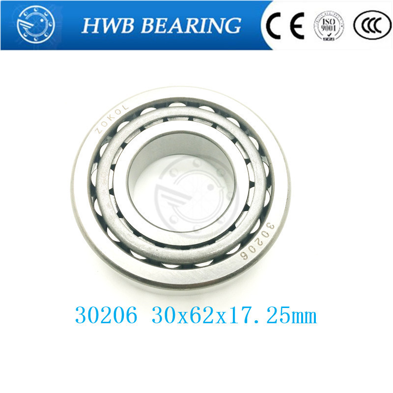 Free Shipping Taper Roller bearing 30206 30x62x17.25mm 30207 35x72x18.25 30208 40x80x19.8 Tapered roller bearings, single row od id 30 22mm thin wall closed end high purity 99 3% alumina advanced ceramic thermocouple bushing protecting tube