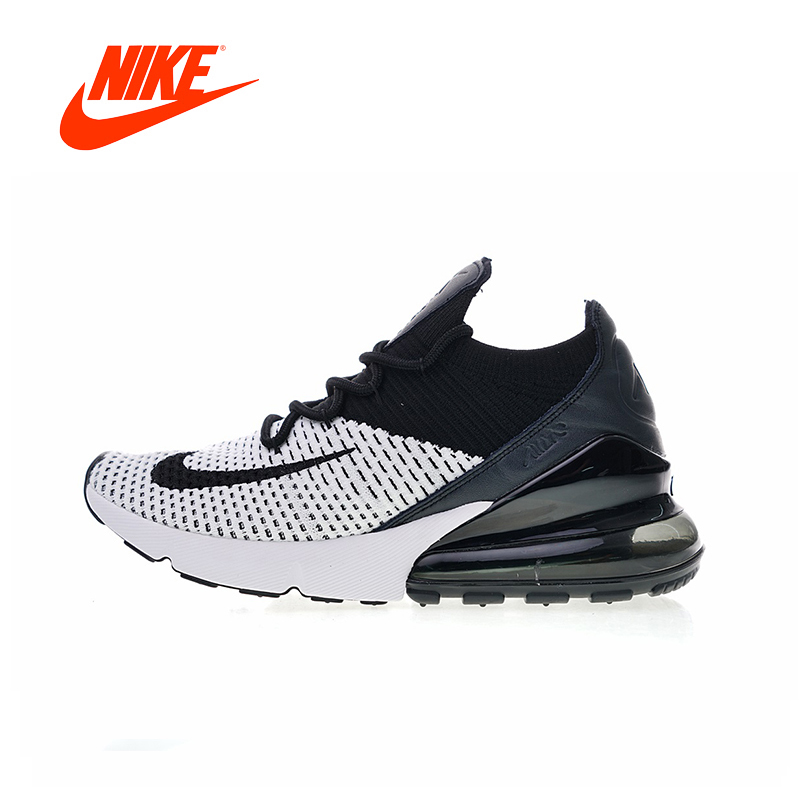 Original New Arrival Authentic Nike Max 270 Flyknit Men s Running Shoes  Sport Sneakers 2018 Winter Gym 03c8e03aa
