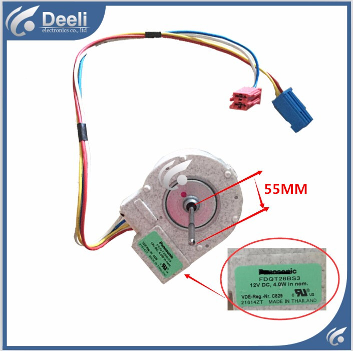 100% new Good working for refrigerator Fan motor for refrigerator freezer FDQT26BS3 12V DC new good working for refrigerator ventilation fan motor dla5985hacc 0064000945 bcd 628wabv reverse rotary motor