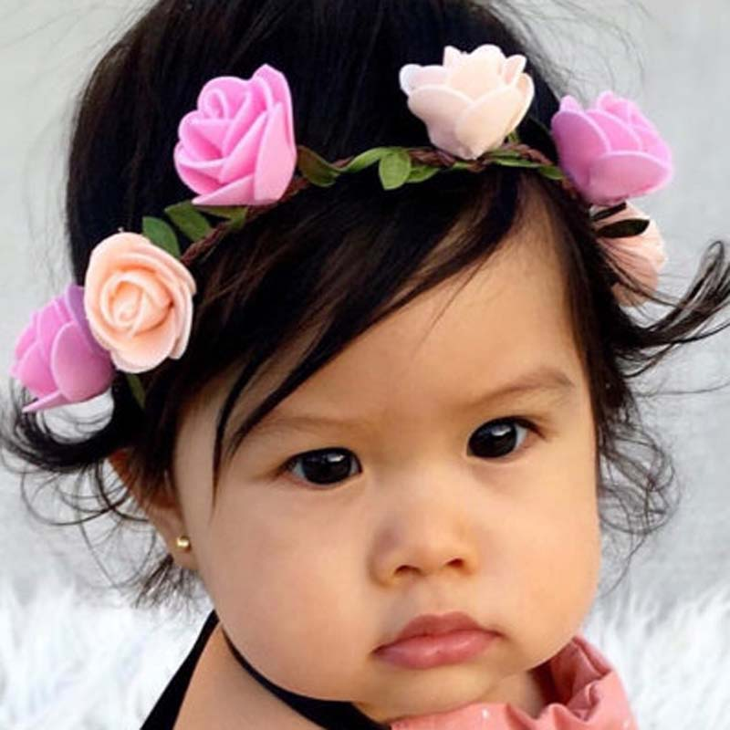 Wholesale New kids Girl Floral Headband for Hair Accessories Floral Halo  Floral Boho Headband girl Photo Prop Shabby 300PCS-in Hair Accessories from  Mother ... b6ea0d3cc74