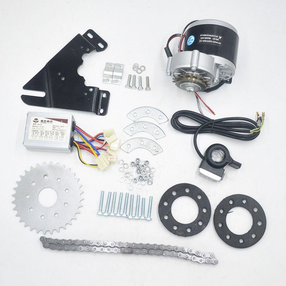 Kit de conversion de moteur de vélo électrique 24 V 36 V 350 W ensemble de moteur de dérailleur électrique pour vélo à plusieurs vitesses Variable