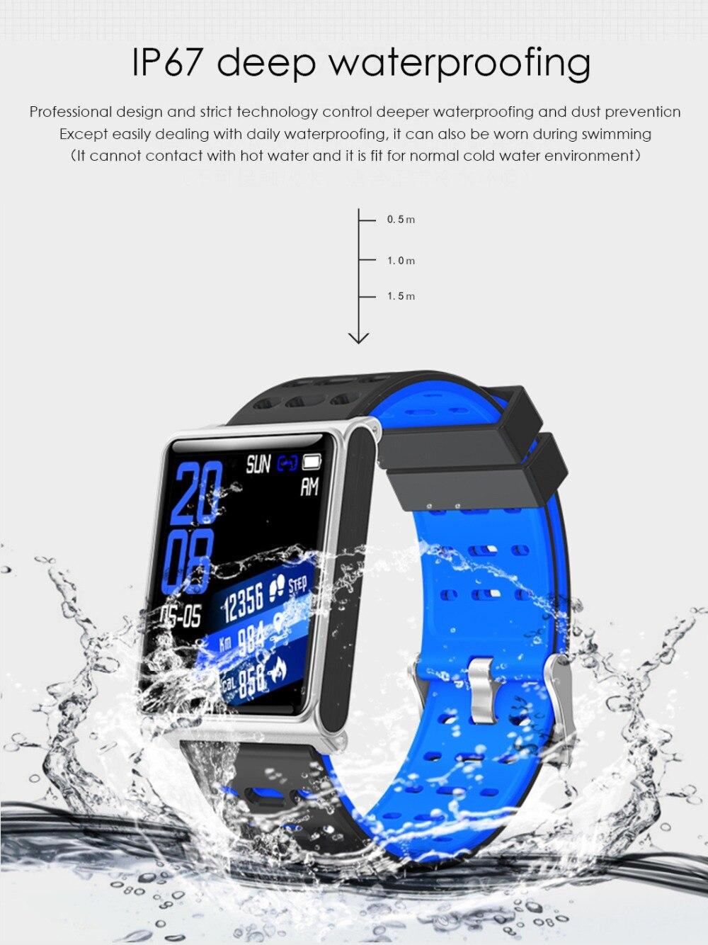 Smart Watch Bracelet N98 Color Full Screen Waterproof Fitness Tracker Clock Wristband Heart Rate Monitor Pressure For Xiaomi IOS 11